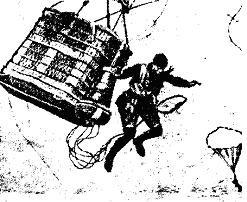 Ugrás egy megfigyelő léggömbből Juchmess-féle ejtőernyővel