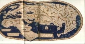 Henricus Martellus Gemrnus világtérképe 1489-ből