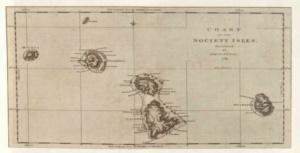 James Cook A Társaság-szigetek térképe 1769