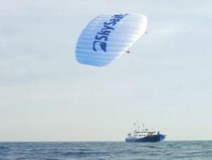 A Beaufort nevű SkySail rendszerű hajó